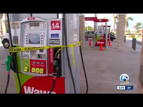 The search for gas, ice and food continues in South Florida