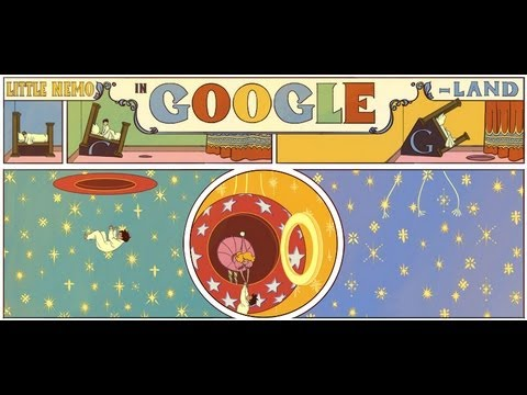 Google Doodle for the 107th anniversary of Winsor McCay's Little Nemo in Slumberland