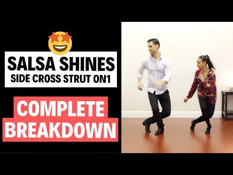 Salsa Shines On 1 - Side Cross Strut (FULL INSTRUCTION) | TheDanceDojo.com