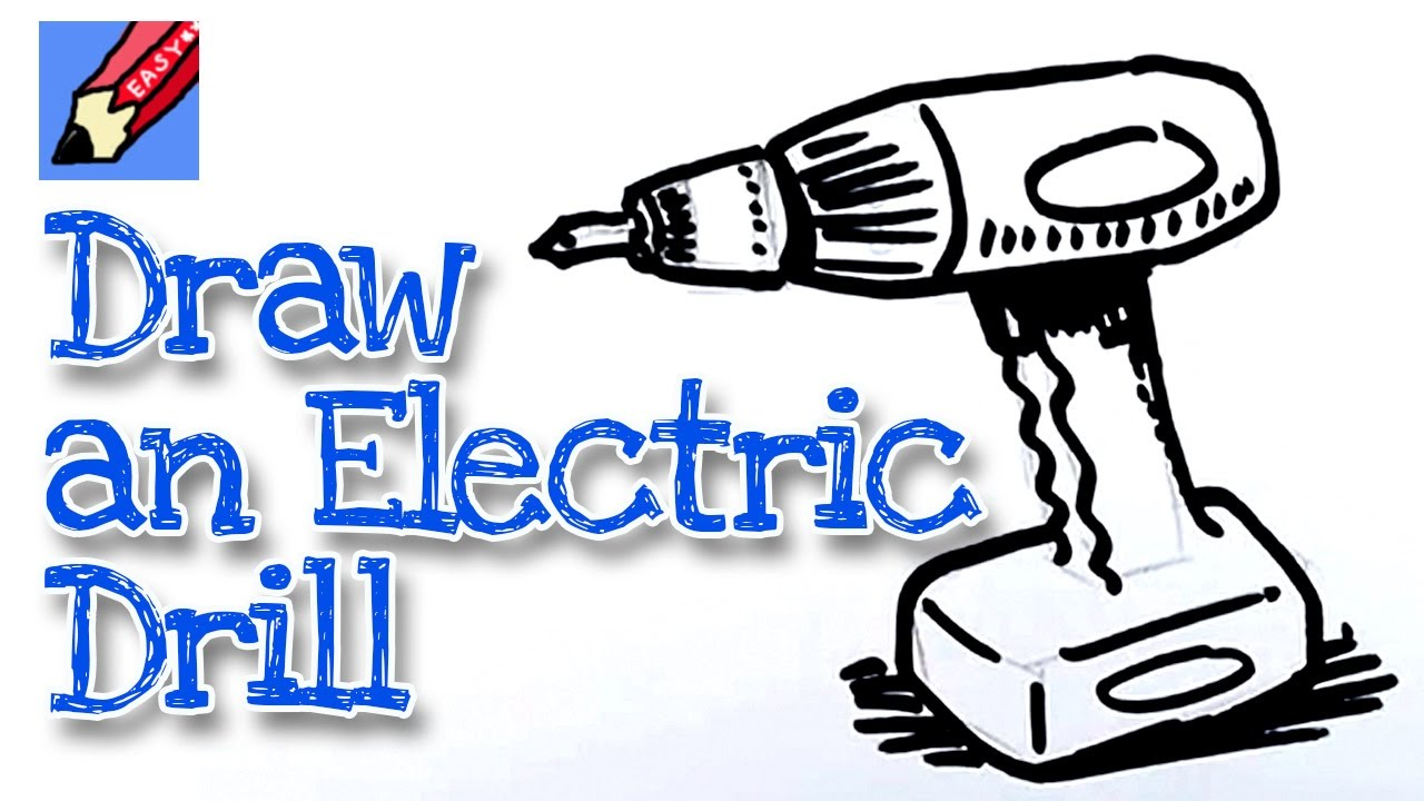 How To Draw A Power Drill Real Easy