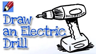 How to draw a Power Drill Real Easy - For kids and beginners