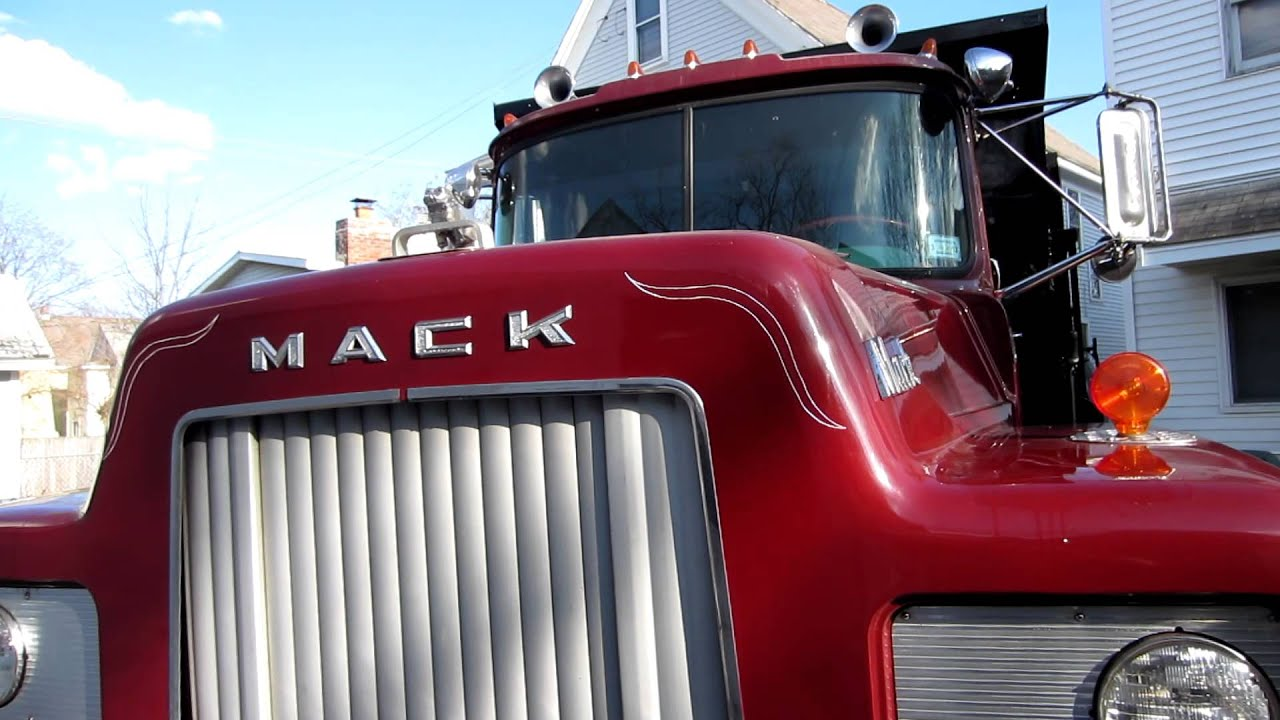 1968 Mack Truck : Mack dump truck before lettering and striping youtube