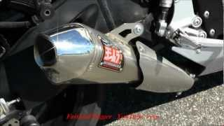 Suzuki GSXR 750 With Yoshimura R55 Slip On Exhaust Sound Revving GIXXER Walk Around Video