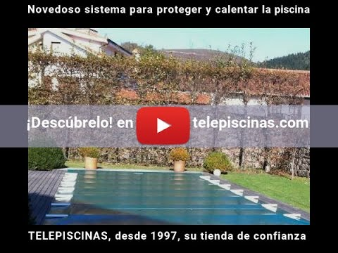 Novedoso sistema para proteger y calentar tu piscina cobertor invierno verano youtube - Cobertor piscina enrollable ...