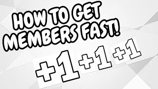 HOW TO RECRUIT MEMBERS QUICKLY FOR YOUR GROUP ON ROBLOX!