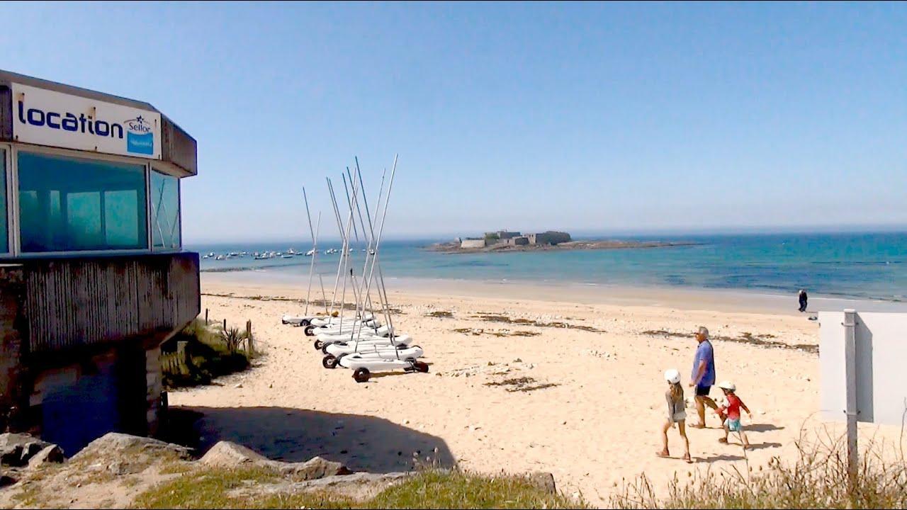 le fort bloqu ploemeur belle plage de sable et mer bleu k ragan bretagne france youtube. Black Bedroom Furniture Sets. Home Design Ideas