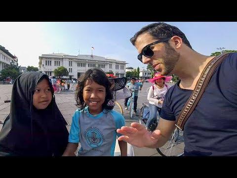 Meeting Locals At Kota Tua Jakarta Indonesia