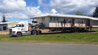 Turning 2500 sqft building around  House movers NZ