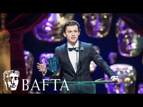 Tom Holland wins EE Rising Star award | BAFTA Film Awards 2017