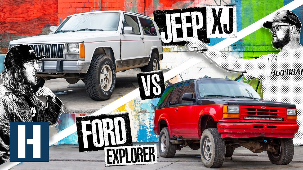 Build & Battle: Jeep XJ gegen Ford Explorer. Welcher Truck ist der beste Offroad-Rennfahrer? + video