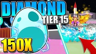 OPENING *NEW* 150 DIAMOND TIER 15 PETS IN PET SIMULATOR Roblox