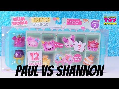 Paul vs Shannon Challenge Num Noms Lights Series 2 Ice Cube Mega Pack Toy Review | PSToyReviews
