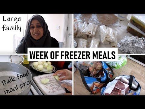 Preparing Freezer Meals For A Week   VLOG