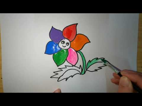 How to draw a cute flower   Flower drawing   Draw so cute   Easy drawing tutorial