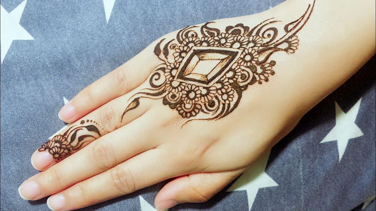Diy Mehndi Designs : Diy diamond mehendi design tutorial henna temporary