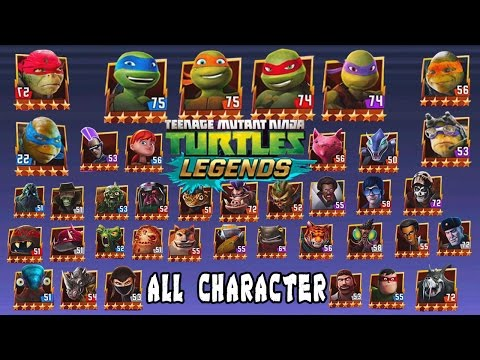 Teenage Mutant Ninja Turtles Legends All Character Youtube