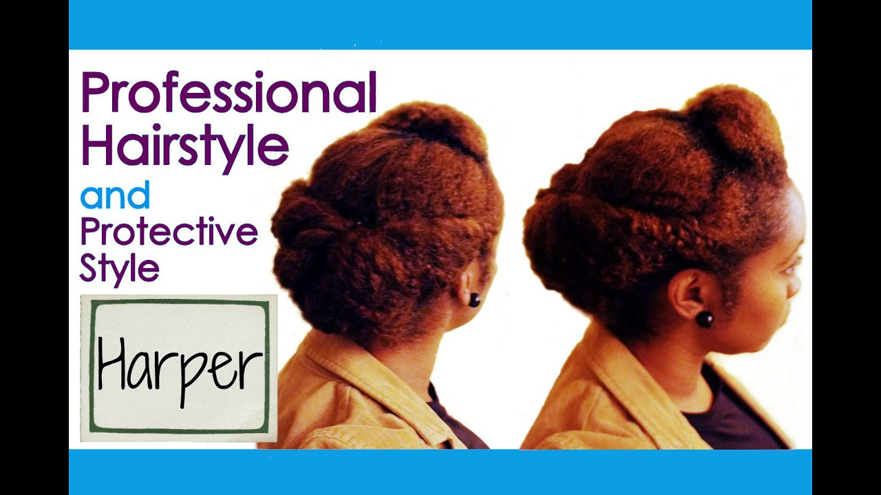 h: harper   professional hairstyle   protective hairstyle for