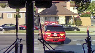 (Ride Along) LACo.FD Engine 170 - Reported Brush Fire