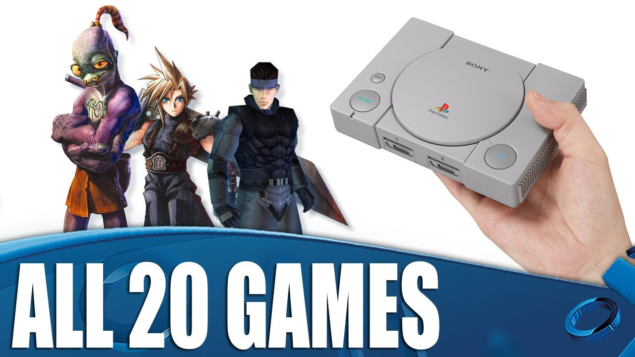 PlayStation Classic - All 20 Games Revealed!