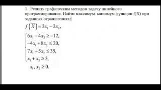 Решение графическим методом (устр.)