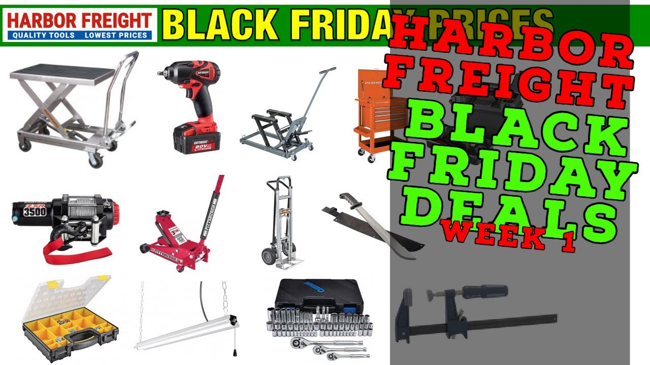 Harbor Freight Black Friday November Sale Week 1 Youtube