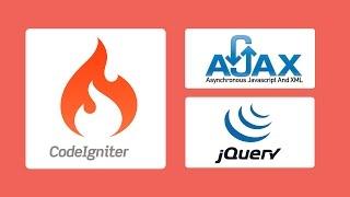 CodeIgniter and Jquery Ajax - Crud select insert update delete retrieve