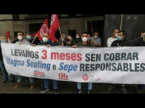 Trabajadores de Magna reclaman el pago de los ERTE ante el SEPE