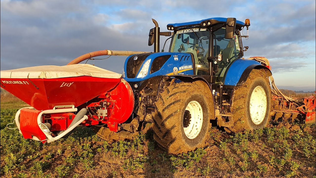 new holland t7.245 au semis de blé 2019
