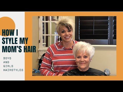 How To Style Trendy Haircut For Grandma Hairstyle Youtube