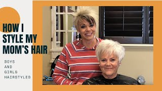 How To Style Trendy Haircut for (Grandma Hair style)