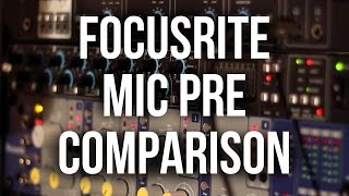 Focusrite Preamps: LS56 vs. Octopre MKII Dyn vs. ISA 428 MKII