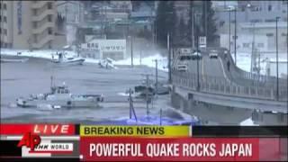 Tsunami hits Japan - Raw Video