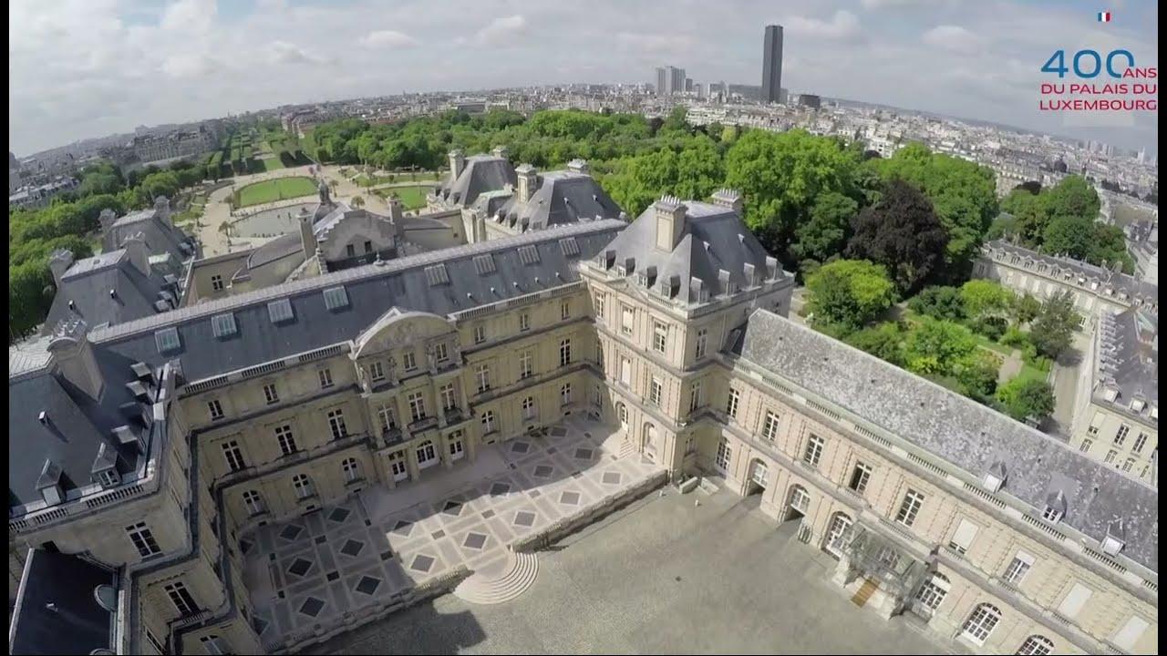 le palais du luxembourg vu du ciel youtube. Black Bedroom Furniture Sets. Home Design Ideas