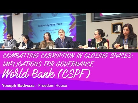World Bank - Corruption - Civil Society - Yoseph Badwaza