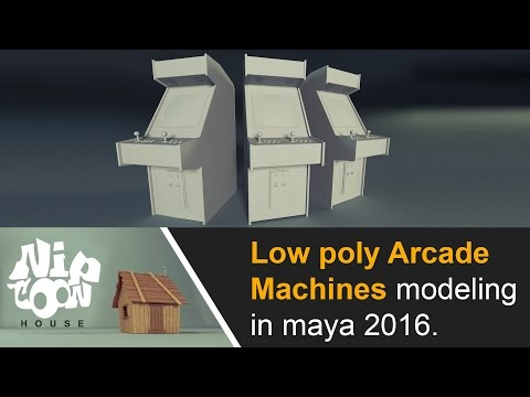 Low poly arcade machines modeling in maya 2016