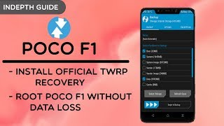 INSTALL OFFICIAL TWRP CUSTOM RECOVERY ON POCOPHONE F1 || ROOT YOUR POCO F1 WITHOUT DATA LOSS