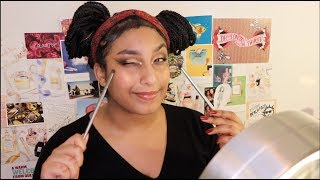 chatty GRWM: easy festive makeup, youtube drama, the expansion of the universe, and apple juice