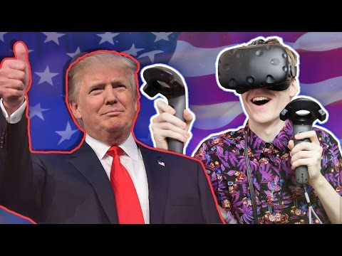 BECOME DONALD TRUMP IN VIRTUAL REALITY! | Trump Simulator VR (HTC Vive Gameplay)