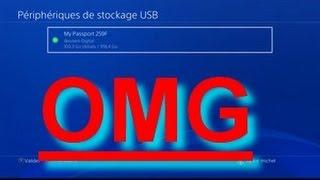 TUTO COMMENT TRANSFERE DES JEUX PS4 UN UN DISQUE DURE OU CLES USBB