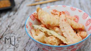 TEMPURA DE VERDURAS Y GAMBAS CON SALSA TENTSUYU | CENA EN SHUNKA | Cocina japonesa