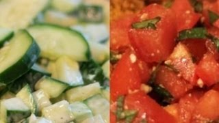Tomato And Cucumber Salad : 2 Cool Sides For Spicy Food