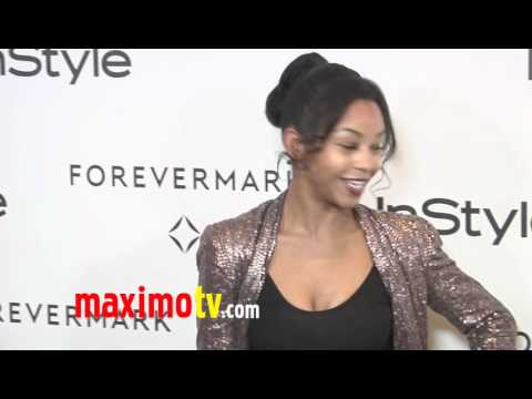 Aasha Davis at Forevermark And InStyle Golden Globes 2012 Event EXCLUSIVE