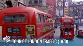 Tour of London Traffic: Double-Decker Buses & Black Cabs (1970) | British Pathé