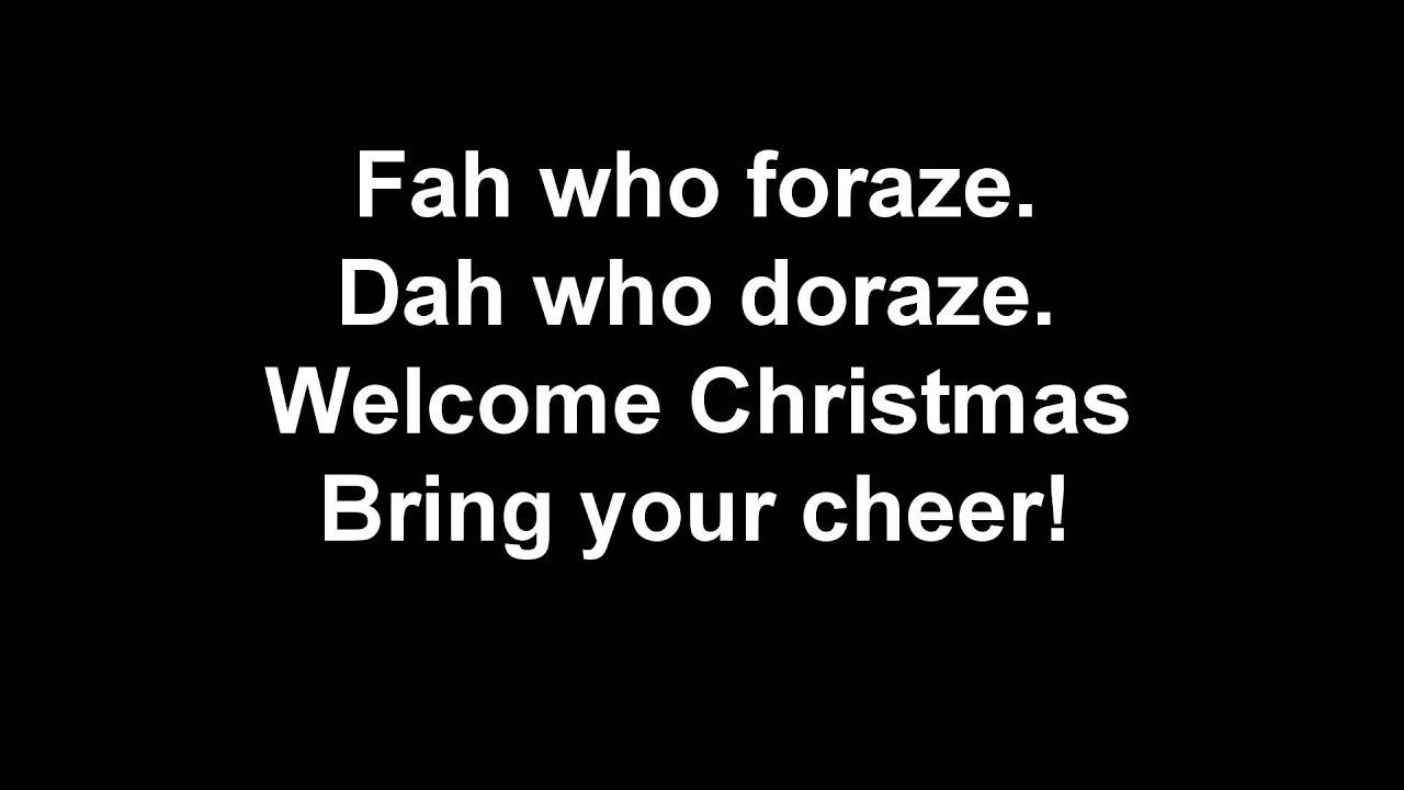 welcome christmas - Grinch Christmas Song