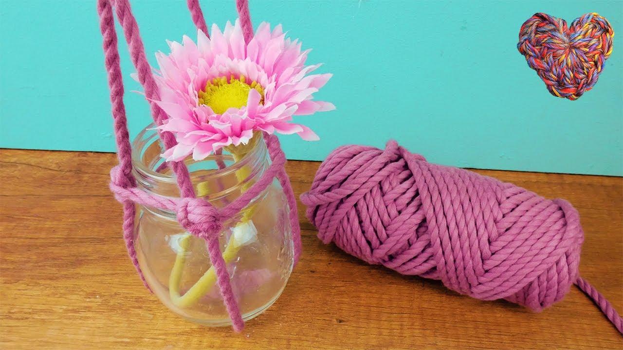 Sommer Deko Idee mit Cotton Cord | Super einfach Blumen & Windlichter aufhängen