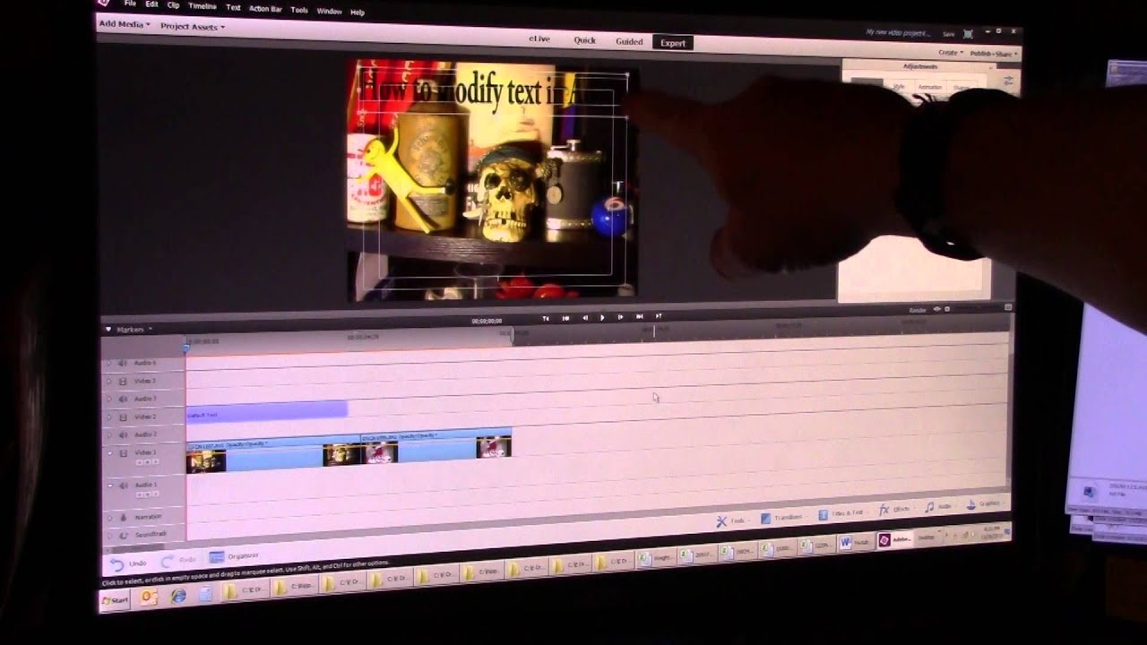 How to add edit and modify text in adobe premiere elements 13 youtube how to add edit and modify text in adobe premiere elements 13 ccuart Image collections