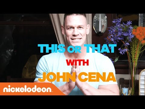 """John Cena Crushes 💪 the 30 Second """"This or That"""" Challenge!   Kids' Choice Awards 2018   Nick"""