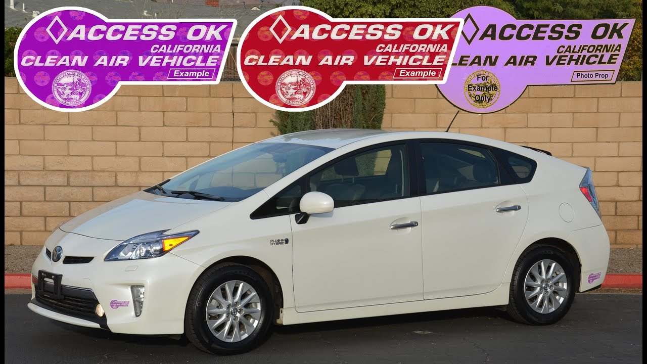 12 Prius Plug In Advanced With Technology Pkg Purple Hov Stickers