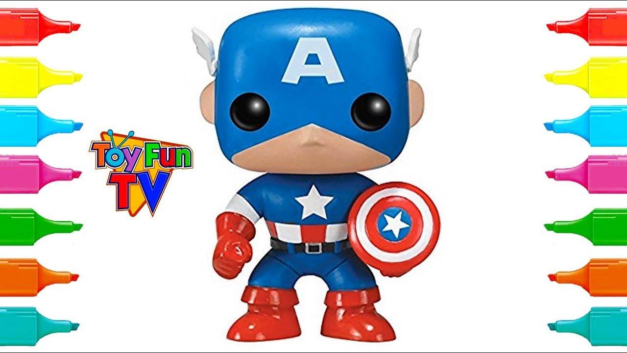 Avengers Captain America Coloring Color Book Funko Pop Colouring