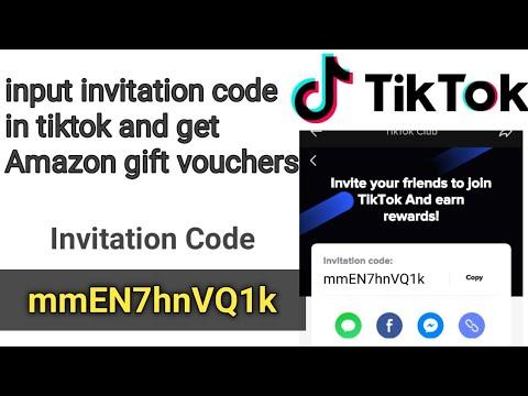 Tiktok Invitation Code Tiktok Referral Code Get Free Amazon Gift Voucher To Tiktok Youtube